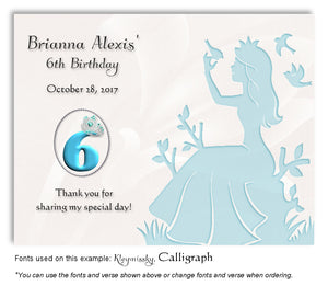 Turquoise Princess Thank You Birthday Magnet