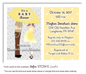 Yellow Parents Invitation Baby Shower Magnet