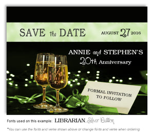 Lime Green Evening Affair Save the Date Anniversary Magnet