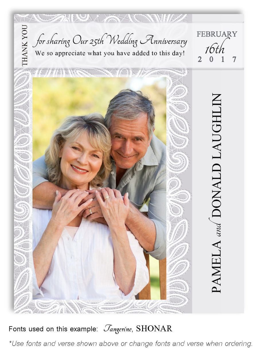 Mauve Save the Date Photo Anniversary Magnet