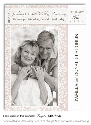 Beige Thank You Anniversary Photo Magnet