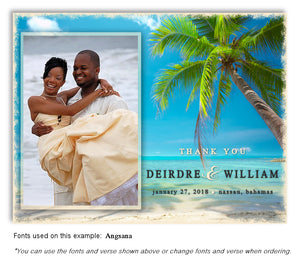 Beach Thank You Wedding Photo Magnet