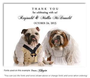 Bulldog Thank You Wedding Magnet