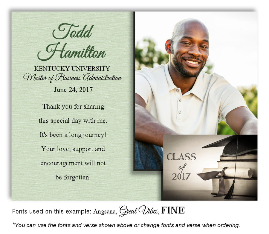 Gray Invitation Photo Graduation Magnet