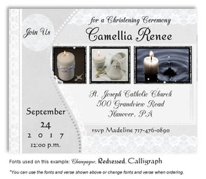 Light Gray Light of the World Invitation Baptism Magnet