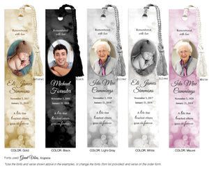 Memorial Photo Bookmark