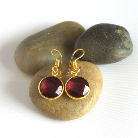 Faceted Stone Drop Earrings *click for more colors