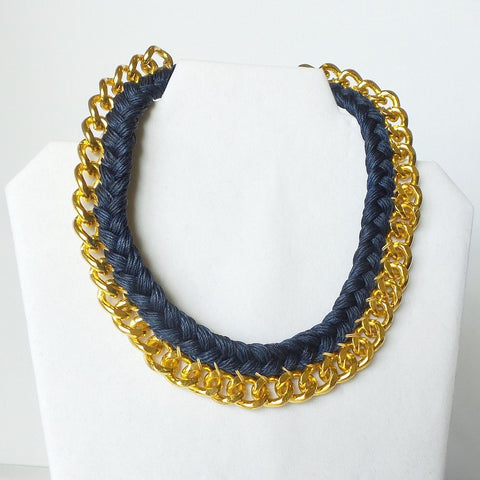 Braided Statement Collar Necklace *click for more colors