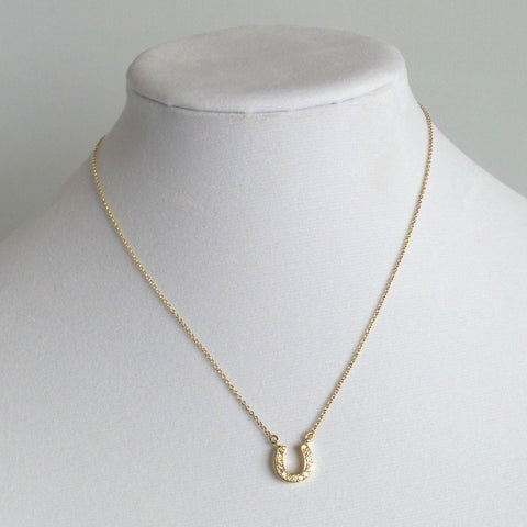 Horseshoe Gold Pendant Necklace