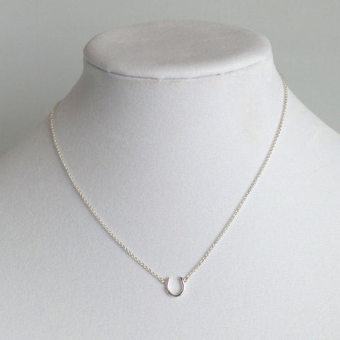 Horseshoe Silver Pendant Necklace