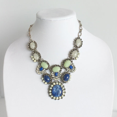 Statement Blue and Green Necklace