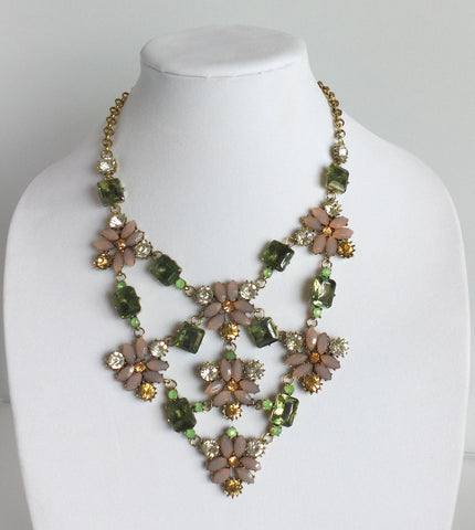 Statement Floral Necklace