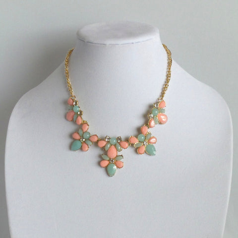 Statement Green and Pink Necklace