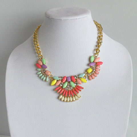 Statement Bright Colors Necklace