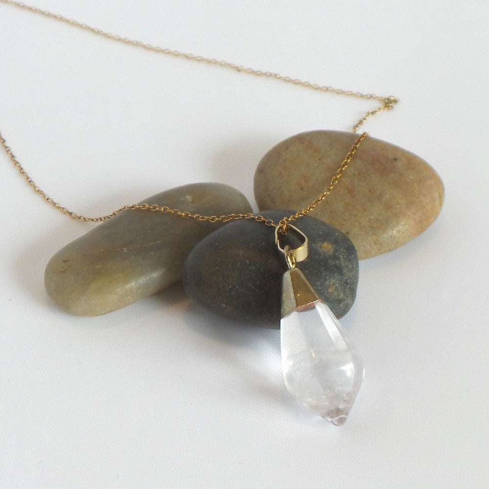 Single Stone Pendant Necklace *click for more colors