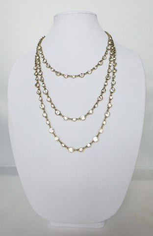 Three Strand Layered Necklace