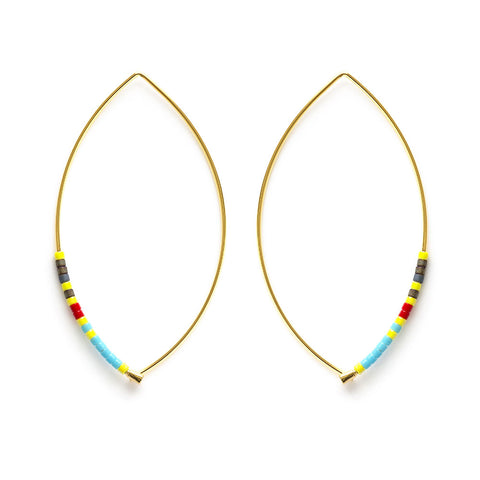 Japanese Marquise Threaders Multi Colorways Earrings