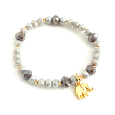 Stretchable Elephant Charm Bracelet *click for more colors