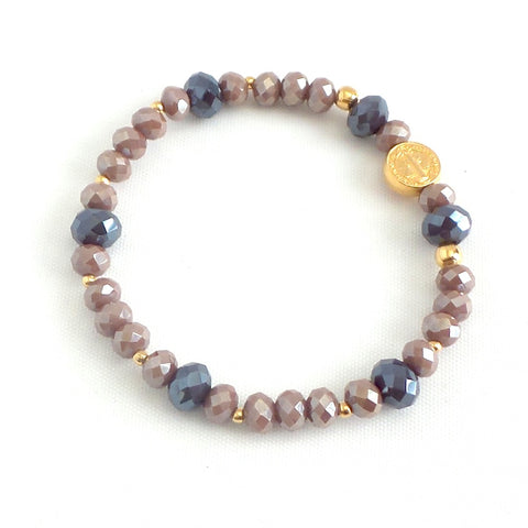 Stretchable St. Benedict Charm Bracelet *click for more colors