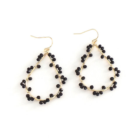 Ashton Black Earrings