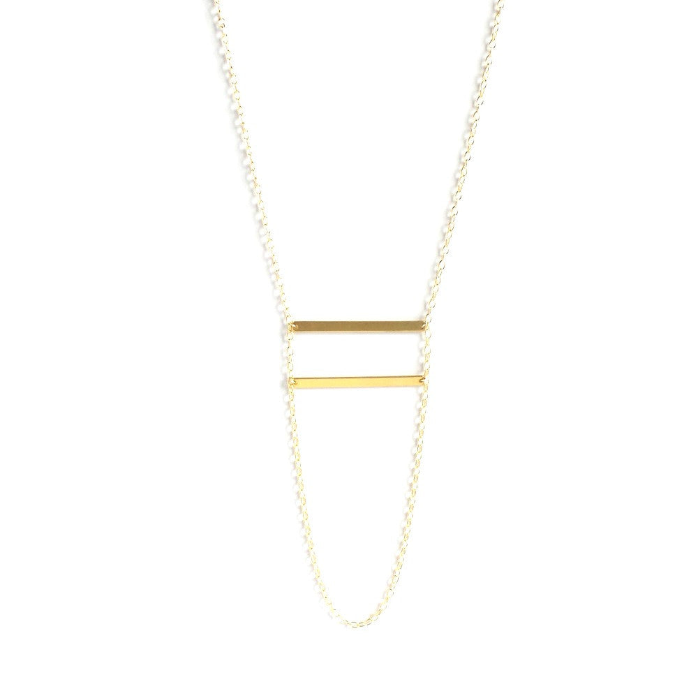 Double Loop Bar Necklace - Estilo Concept Store