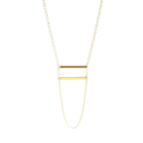 Double Loop Bar Necklace