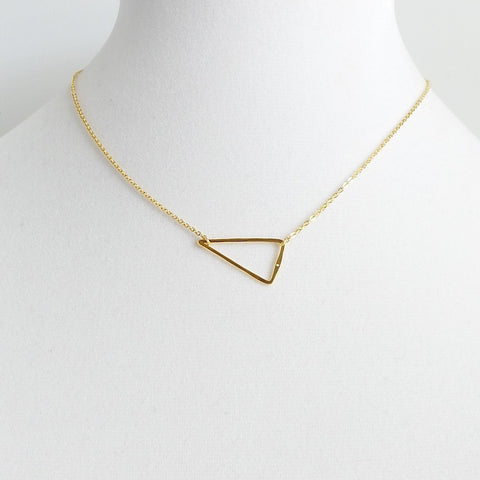 Hollow Triangle Pendant Necklace