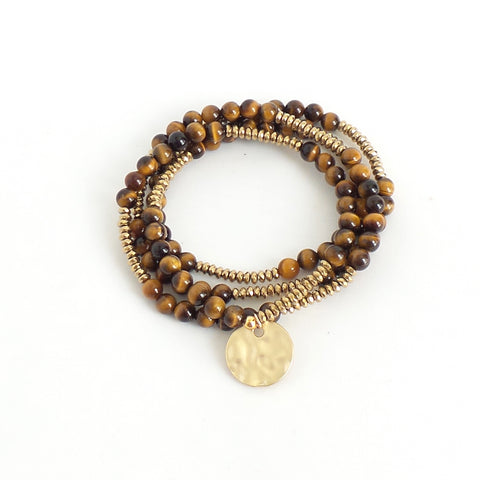 Lila Babe Agate Eye of the Tiger Bracelet