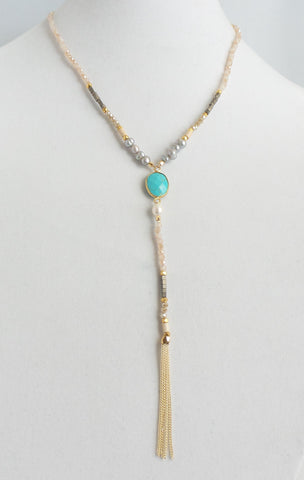 Maggie Turquoise Y-Necklace