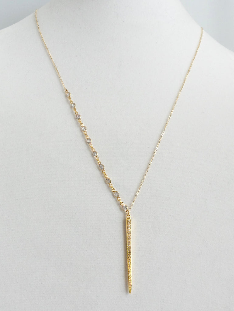 Mountain High Diamond Drop Necklace