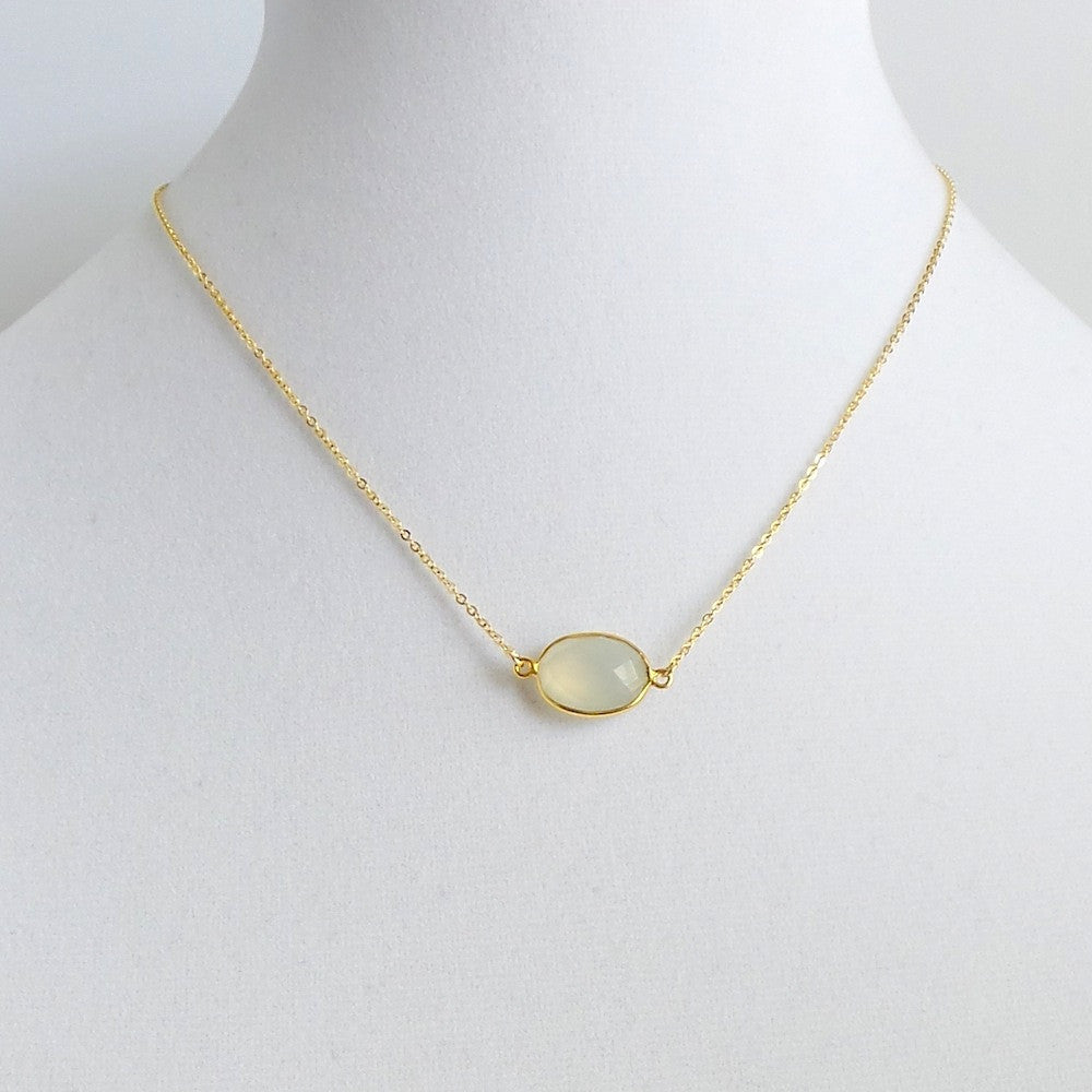 Oval Pendant Necklace *click for more colors