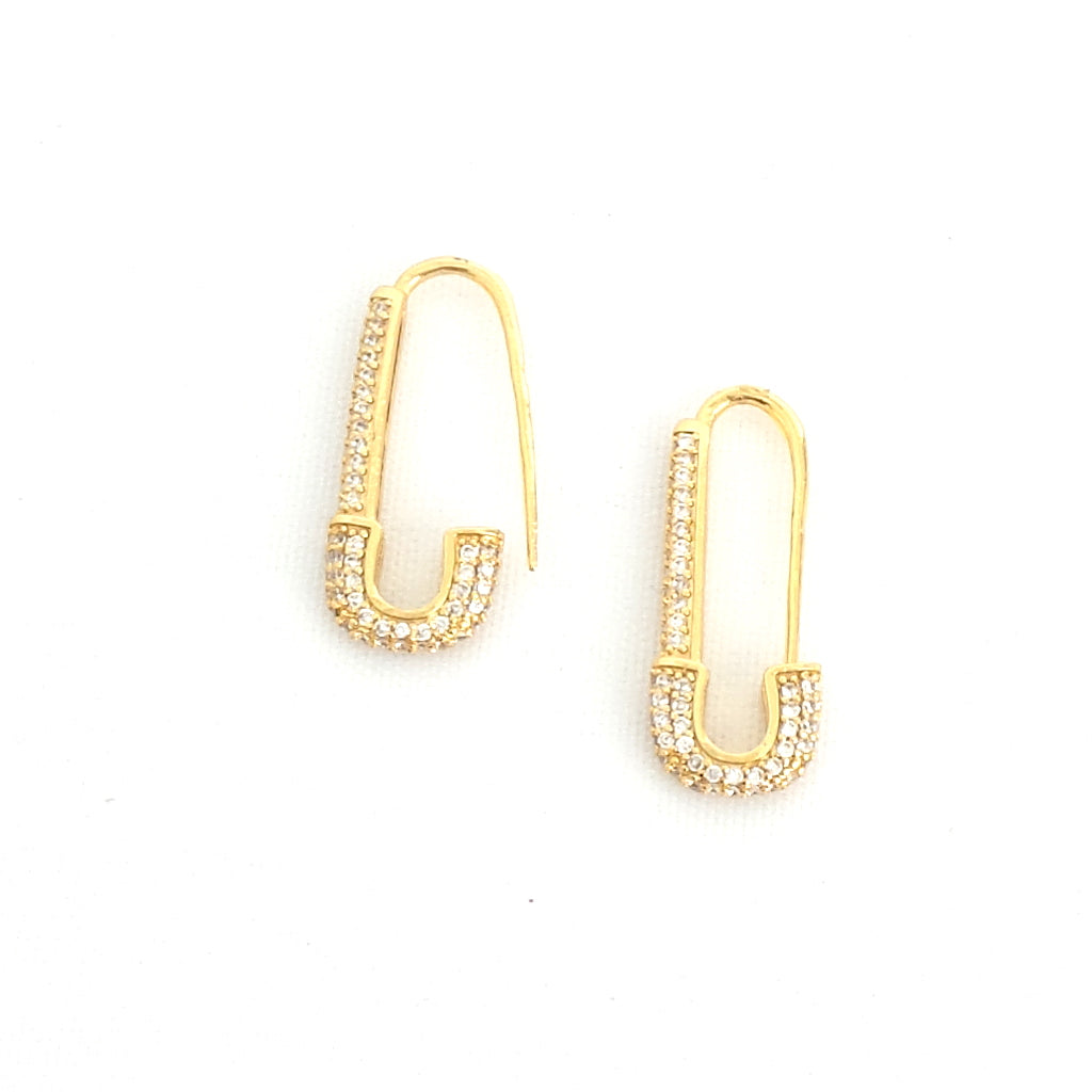 Safety First Pave Earrings - Estilo Concept Store