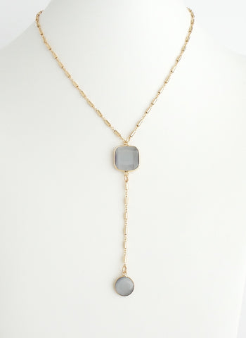 Star Crossed Lover Dark Champagne Necklace - Estilo Concept Store