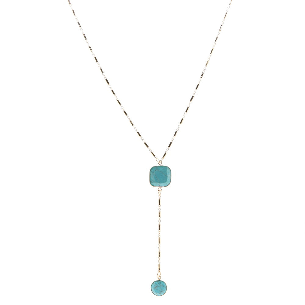 Star Crossed Lover Turquoise Necklace - Estilo Concept Store