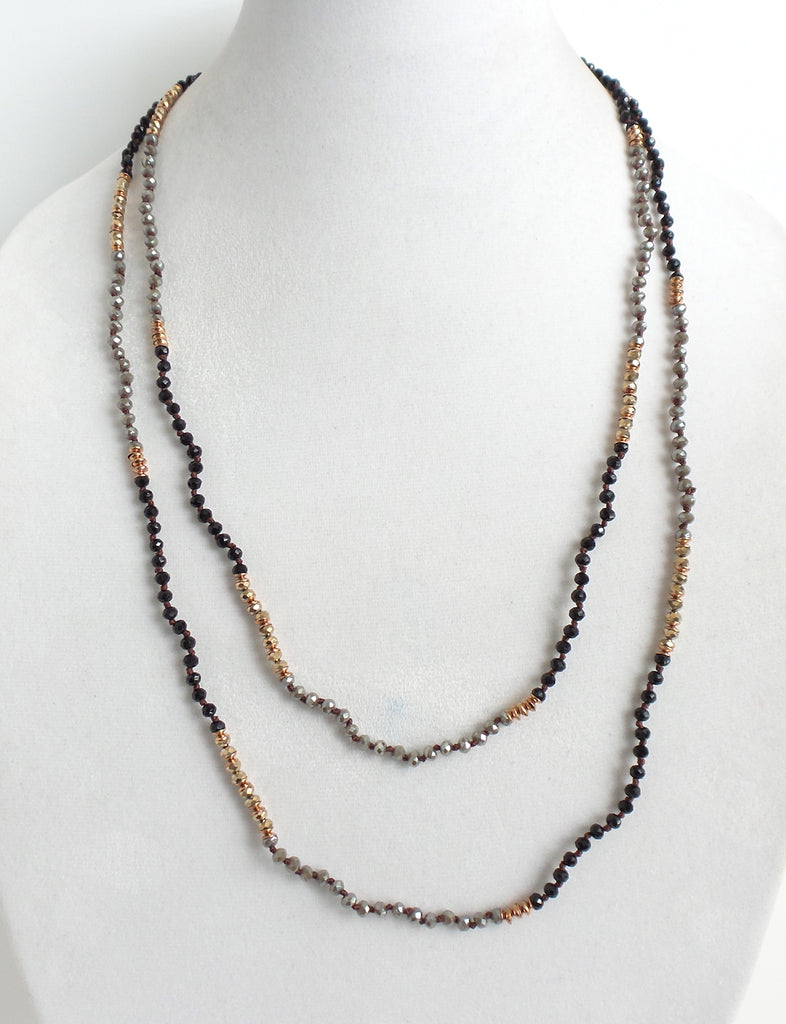 Twice As Nice Necklace Black and Champagne - Estilo Concept Store