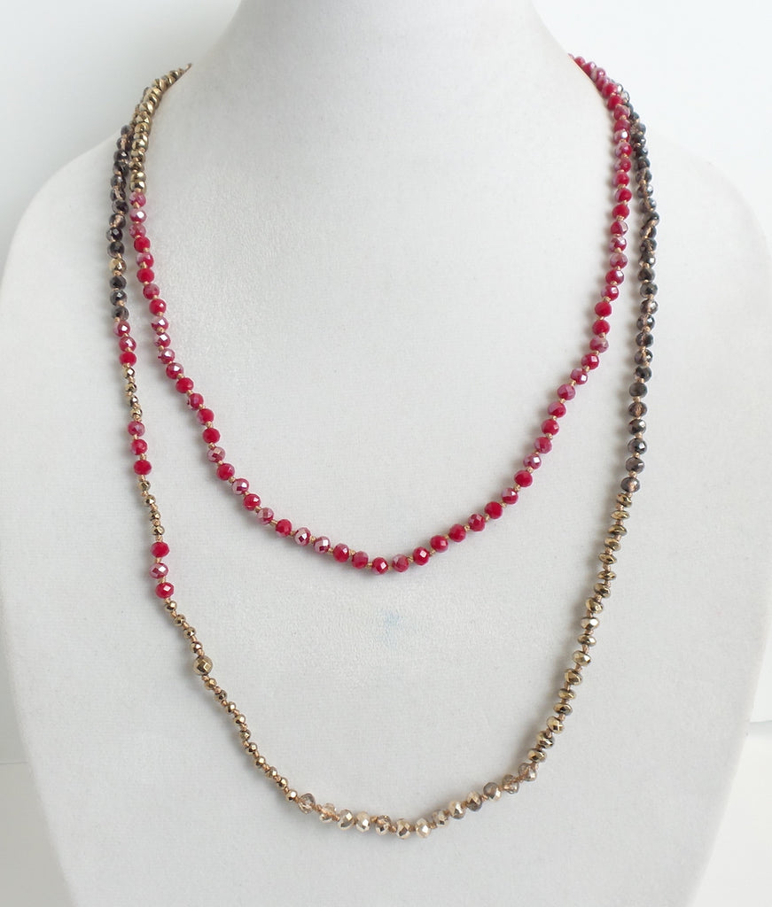 Twice As Nice Necklace Red - Estilo Concept Store