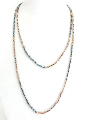 Twice As Nice Necklace Blue and Gold