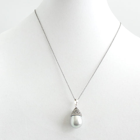 Long Gray Pearl Swarovsky