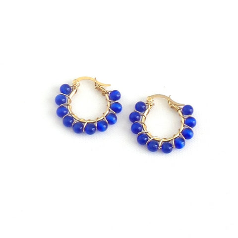 Mini Beaded Hoop Earrings *click for more colors