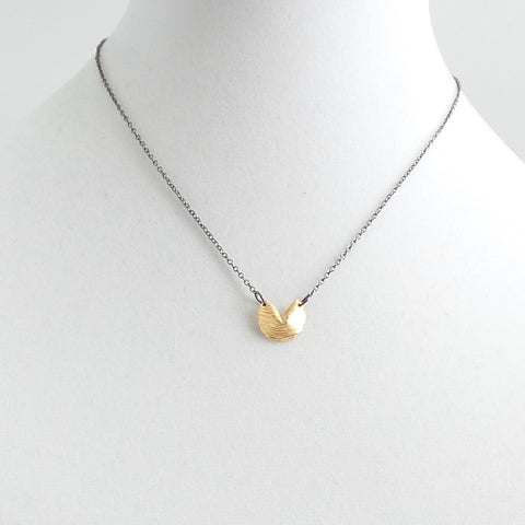 Short Fortune Cookie Necklace