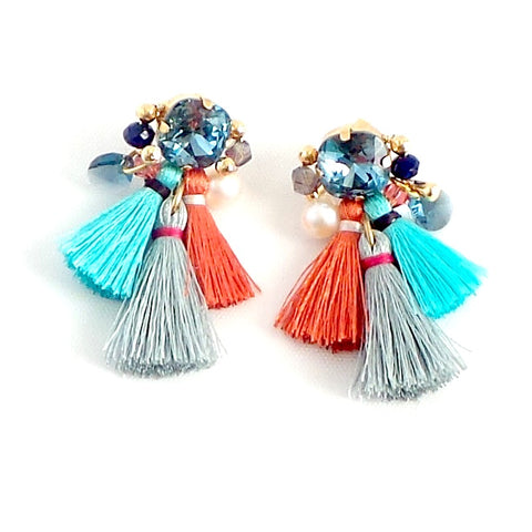 Three Tassels Earrings