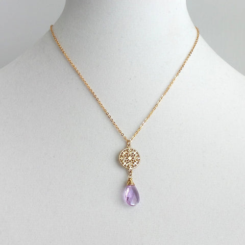 Crystal Drop Necklace *click for more colors