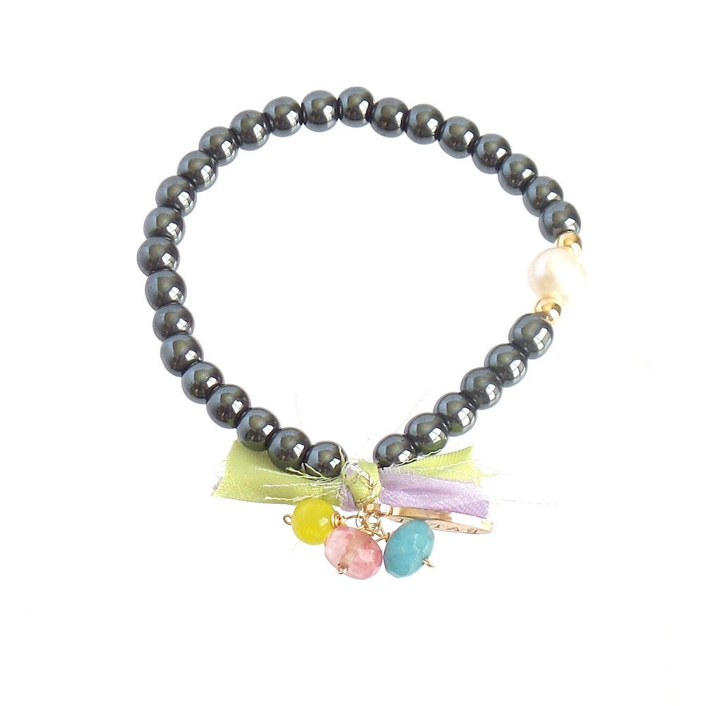 Hematite Silk Bracelet *click for more colors