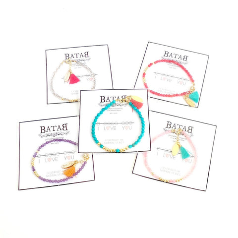 "Summer Bracelets ""I love you"" *click for more colors"