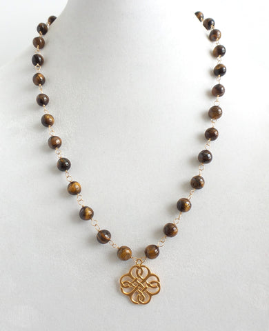 Tiger Eye Beaded Necklace - Estilo Concept Store