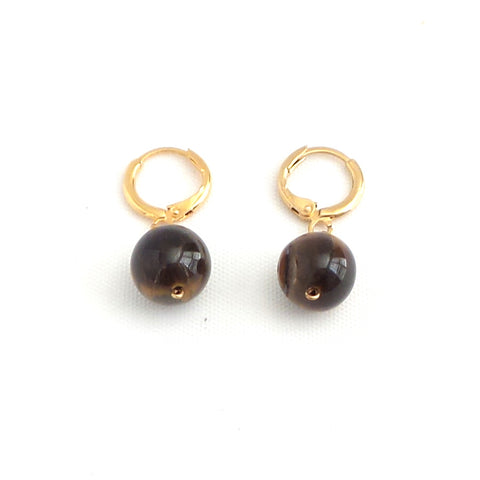 Tiger Eye Earrings - Estilo Concept Store
