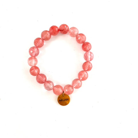 Blintz Strawberry Quartz Bracelet