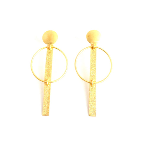 Golden Art Linear Earrings - Estilo Concept Store