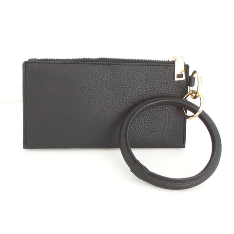 Bracelet Keychain and Wristlet in Black