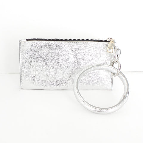 Bracelet Keychain and Wristlet in Silver